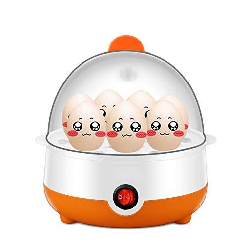 LLYY Egg Boiler,Eierkocher,Elektrischer Edelstahl Eierkocher mit Härtegradeinstellung Eier Kochen Pochieren Dünsten - Omelett-Pfanne und Gemüsedämpfer 7Eier
