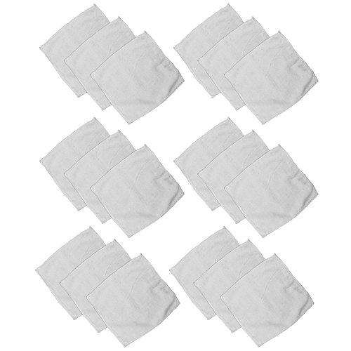 Com-Four Basse 18x Visage de chiffons Nettoyant en Microfibre en pack