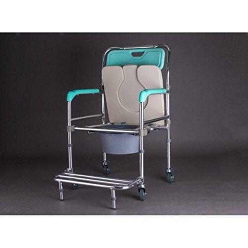Seduta imbottita e alluminio doccia Commode Chairbedside Wcasters