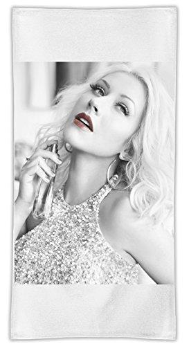 Christina Aguilera Lips Asciugamano in microfibra MicroFiber Towel W/ Custom Printed Designs| Eco-Friendly Material| Machine Washable| 50x100 cm | Premium Bathroom Supplies By 50x100 cm Hamerson