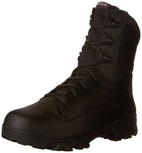 Bates Men's 8 Inch Leather Nylon Side Zip Uniform Boot, Black, 7 M US Bates Side Zip Boot