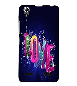 Fuson Premium Back Case Cover Love With Brown Background Degined For Lenovo A6000 Plus