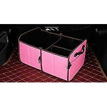 XIAOYA Auto Multiuso Pieghevole Scatola Di Immagazzinaggio, Bagagliaio Auto Organizer, Spazio Bagagliaio Stoccaggio Stoccaggio Merci Durevole Per Auto, Camion, SUV, Minivan E Home,Pink