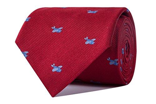 SoloGemelos - Corbata Aviones - Rojo - Hombres - Talla Unica