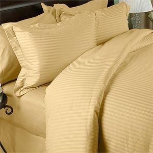 MARRIKAS 300TC Egyptian Cotton KING GOLD STRIPED Duvet Cover Set by Marrikas - 300tc-duvet-set