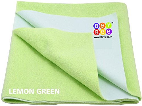 Bey Bee - Quick Dry Baby Bed Protector Waterproof Sheet (Light Green) {Medium} {Size: 100cm X 70cm}