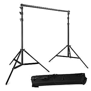Support de fond kit pour studio photo en alliage d'aluminium hauteur max 2.8m avec sac de transport photographie