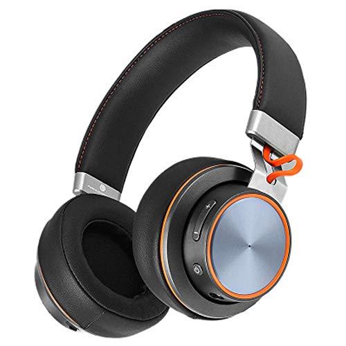 BAG Cuffie Bluetooth, Auricolari Over Ear Auricolari Stereo con Microfono Noise Cancelling Stereo Solid, Cuffie da Gioco per Computer Portatili-Black