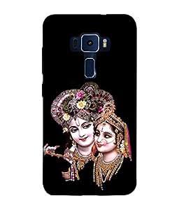 PrintVisa Designer Back Case Cover for Asus Zenfone 3 Laser ZC551KL (5.5 Inches) (Radha Krishna Peppy Design )