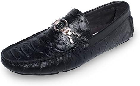 GRRONG Zapatos De Cuero De Los Hombres De Negocios Negro De Ocio