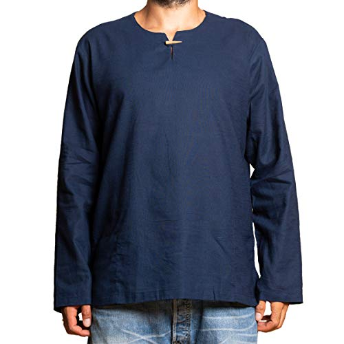 PANASIAM Shirt T01, Cotton, Blue, XXL, Longsleeve