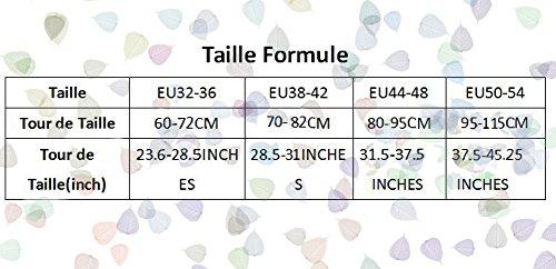 CoutureBridal® Femme Jupe Tutu 4 Couches Elastic Ceinture Princesse Tulle 55CM Bleu