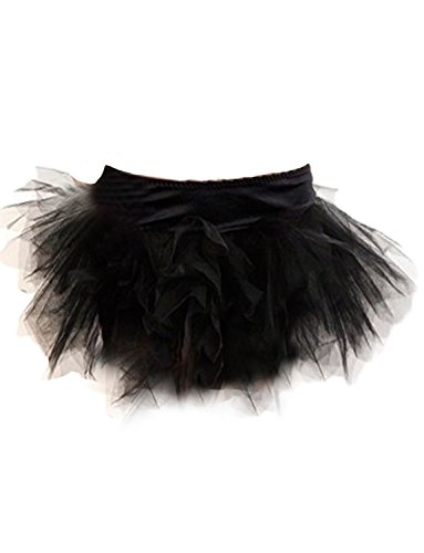Yummy Bee Tutu Rock Burleskes Kostüm Damen Burlesque Größe 34 - 56 (Schwarz, (Party Burlesque Kostüm)