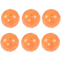 VORCOOL Pickle Ball Juego de Bolas de Pickleball de tamaño Oficial para Paquete de 6 en Interior y Exterior Naranja