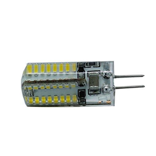 HBR Ampoule LED G4 / G9 / E14 Croix Silicone (AC 220V) Sceller 64LED 3014 3W 220lm3000K / 6000k SMD Lampe (Couleur : Blanc Froid, Shape : G4)
