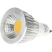 SODIAL(R)GU10 7W COB LED Luces del bulbo Lampara Bombilla de alto rendimiento Ahorro de energia 85-265V Blanco calido