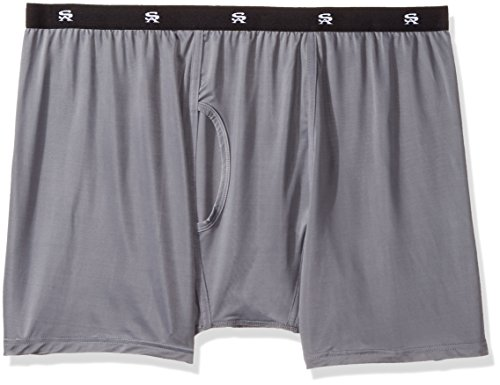 Stacy Adams Men's Big and Tall Boxer Brief, Gray, XX-Large - Big And Tall Boxer Briefs