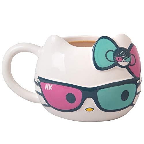 Hello Kitty w/ Sunglasses & Bow 20oz Ceramic Figural Mug