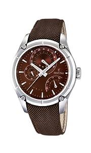 Festina 0 - Reloj de cuarzo para hombre, con correa de cuero, color marrón de Festina