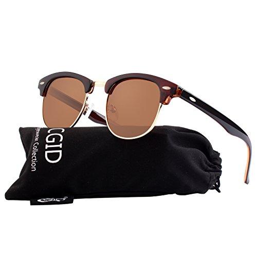 CGID Gafas de sol polarizadas retro medio marco clásico para Hombre y Mujer  MJ56 c8c858b9252e