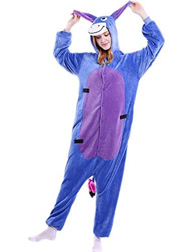 Minetom Tier Onesies Karneval Halloween Kostüm Nachtwäsche Cosplay Pyjama Erwachsene Unisex Kigurumi Jumpsuit Arsch (Pfau Kostüme Sexy)
