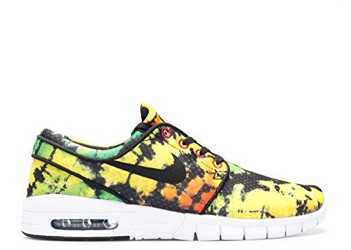 Nike Stefan Janoski Max Prm, Scarpe da Skateboard Uomo Giallo / Nero / Verde (Tour Yellow / Black-Green Pulse)