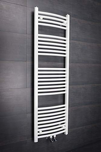 WarmeHaus Handtuchheizkörper Badheizkörper Handtuchwärmer 1450x450mm Weiß