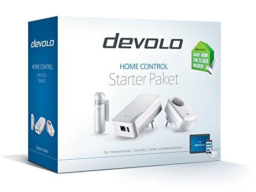 Devolo Home Control Starter Paket (Smart-Home, Zentrale, Schaltsteckdose, Türkontakt, Fensterkontakt, Hausautomation per App, einfache Installation, Z-Wave, Zentrale + 1 Aktor, Sensor im Set) - 2