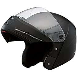Studds Ninja Elite Full Face Helmet with Carbon Center Strip (Black, L)