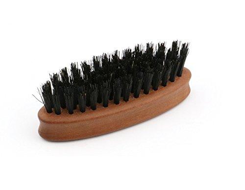 Brosse à barbe en bois de poirier oléagineux de haute qualité avec des poils de sanglier pur, idéale pour les hommes pour l'entretien naturel de la barbe noble, dim. 83 x 27 mm, Made in Germany
