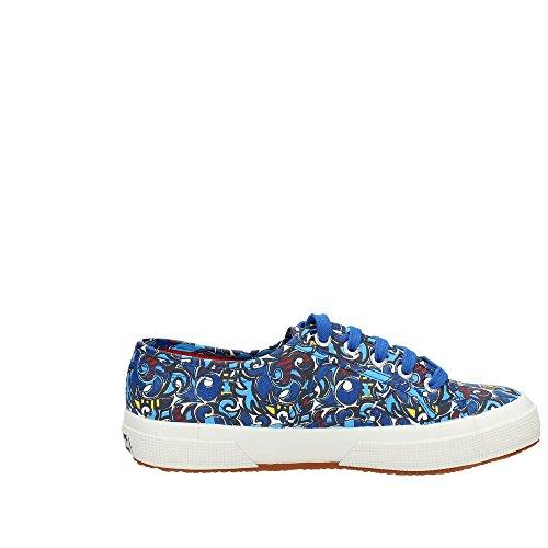 Superga - 2750 Fantasy Cotu, Sneaker Donna PUZZLE BLUE-BLUE