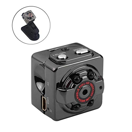 MYXMY Haushaltssicherheit versteckte Spion Kamera, 1080P HD Mini Nanny Cam mit Nachtsicht und Bewegungserkennung (Farbe : with Memory Card 8G)