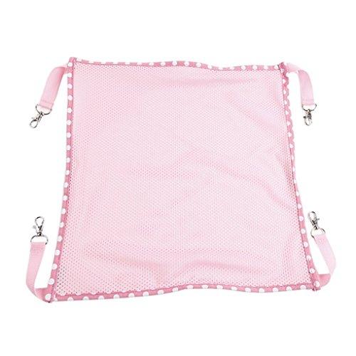 dahanbl atmungsaktives Mesh Tuch Käfig Pet Hängematte aufhängen Bett (L Pink)