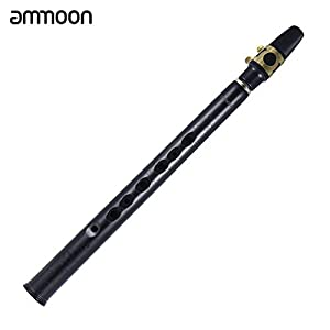 ammoon Mini Pocket Bb Saxophone ABS Sax Mouthpiece with High 4 Reeds Transport Bag Wood Wind Instrument