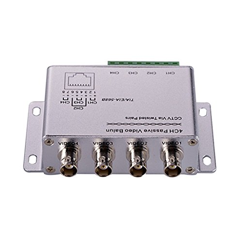 MagiDeal 4 Kanäle Video Balun Sender Empfänger verdreht Transceiver 100 ohms UTP Kabel