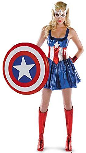 Aimerfeel Damen avengers captain america Abendkleid Kleidfrauen Superhelden-Kostüm, Größe ()