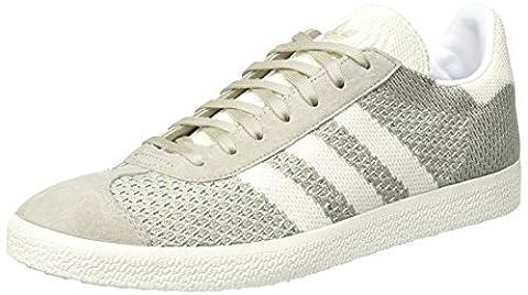 adidas Originals Gazelle Primeknit, Baskets Basses Homme, Gris (Sesame/Off White/Trace Green), 43 1/3 EU