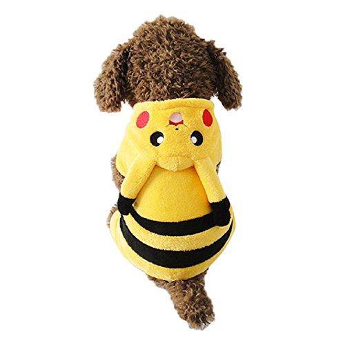 Pikachu Kostüm für Hund (L) (Welpen-halloween-kostüme)
