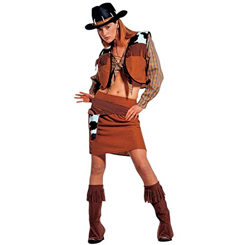 ern Damenkostüm M 38/40 Cowgirlkostüm Damen Cowboykostüm Indianerparty Westernkostüm Fasching Wilder Westen Faschingskostüm Lady Cowboy Indianer Mottoparty Verkleidung Karneval ()