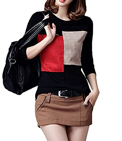 LemonGirl - Sweat-shirt - Manches Longues - Femme - noir -