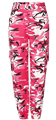 Rolanscia Damen Freizeithose Hip Hop Hose Tanzhose Camouflage Bedruckte Lässige Haremshose -