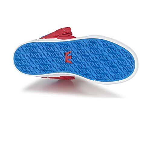 Supra Kids Vaider, Sneakers Hautes mixte enfant Rouge