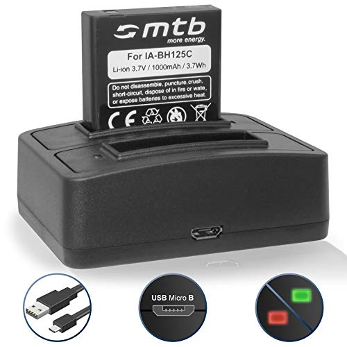 Akku + Dual-Ladegerät (USB) für Pentax MX-1, X90 / Ricoh GR, GR II, Caplio R3, R4, R5, GX100 / WG-M1 / Sigma DP3 Merril. - s. Liste