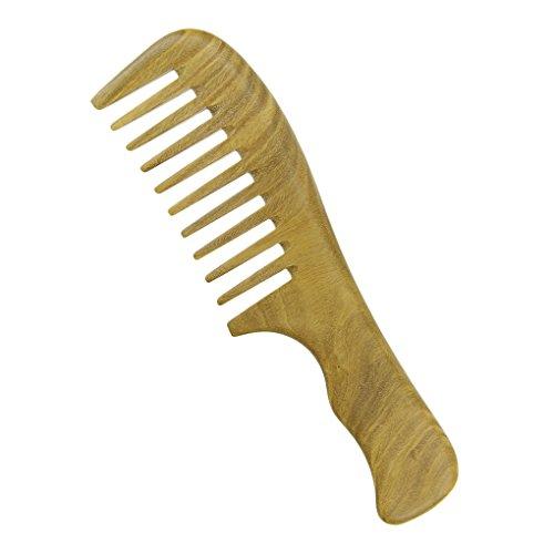 Bao Core Peigne En Vert Sandal Avec Dents Larges Peigne à Main Portable Antistatique Comb Pour Unisexe Massage de Cuir Chevelu Cheveux Maison Salon de coiffure Coiffeur Professionnel