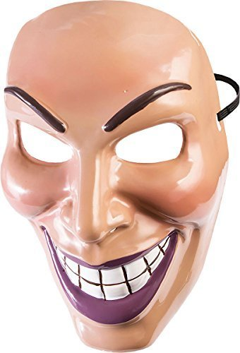 e Halloween Kostüm Party Horror groß Smile The Purge Evil Grin Maske - Herren, One Size (Purge-maske Halloween)
