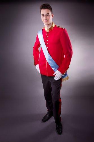 Kostüm als Prinz William für Herren in Gr. M englischer Kronprinz Uniform