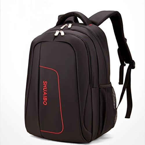 Baymate Modern Wasserdicht Notebook Rucksack Laptoptasche Schulrucksack Business Computer Rücksack Bag Schwarz