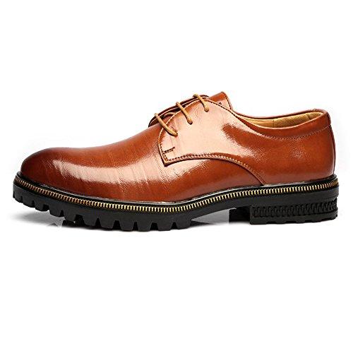 Scarpe Scarpe da Lavoro Moderne da Uomo Matte in Vera Pelle con Lacci e Fodera Traspirante Scarpe di Pelle (Color : Marrone, Dimensione : 39 EU)