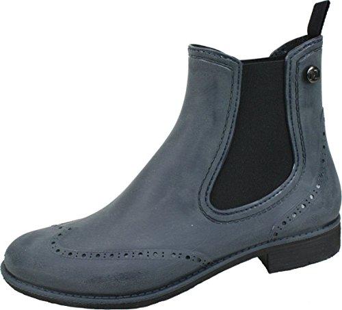 BOCKSTIEGEL® CHELSEA Donna - Mezzo Stivali di gomma alla moda | Chelsea Boots | Impermeabile | Moda | Design esclusivo Brushed – dk-blue