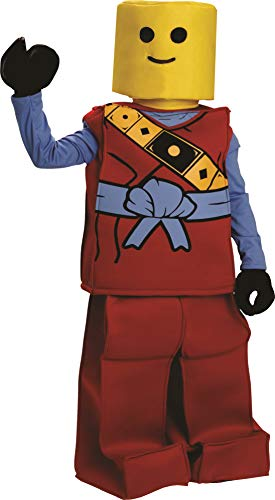 Dress Up America Halloween Kinder Block Ninja Mann Kostüm Outfit rot